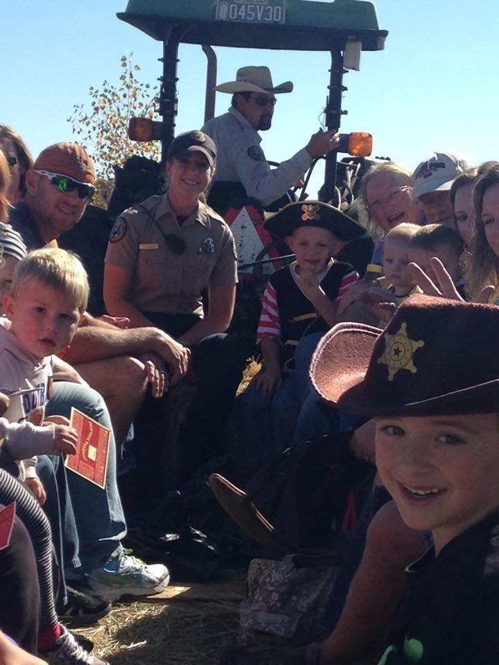 2014Oct11 HF hay ride 2 Ranger Amy