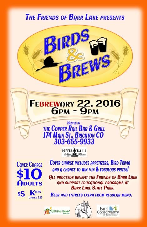Birds & Brews FeBREWary 22, 2016 at the Copper Rail Bar & Grill
