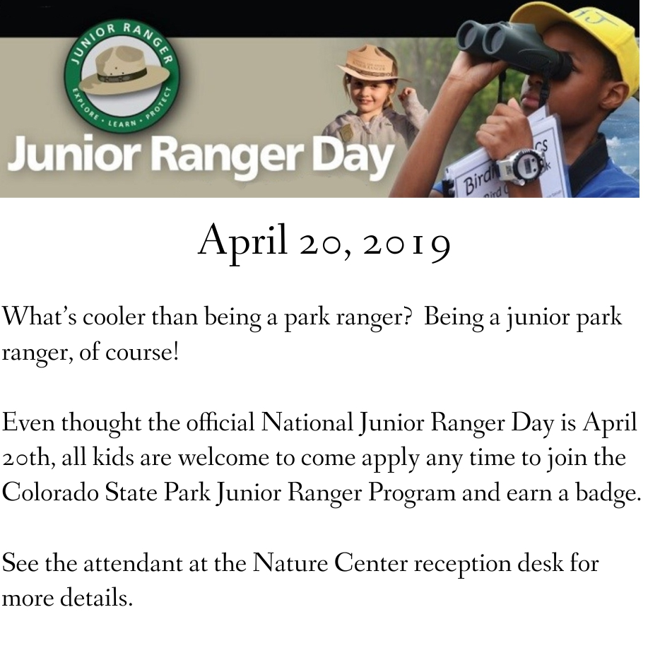 National Junior Ranger Day - April 20, 2019