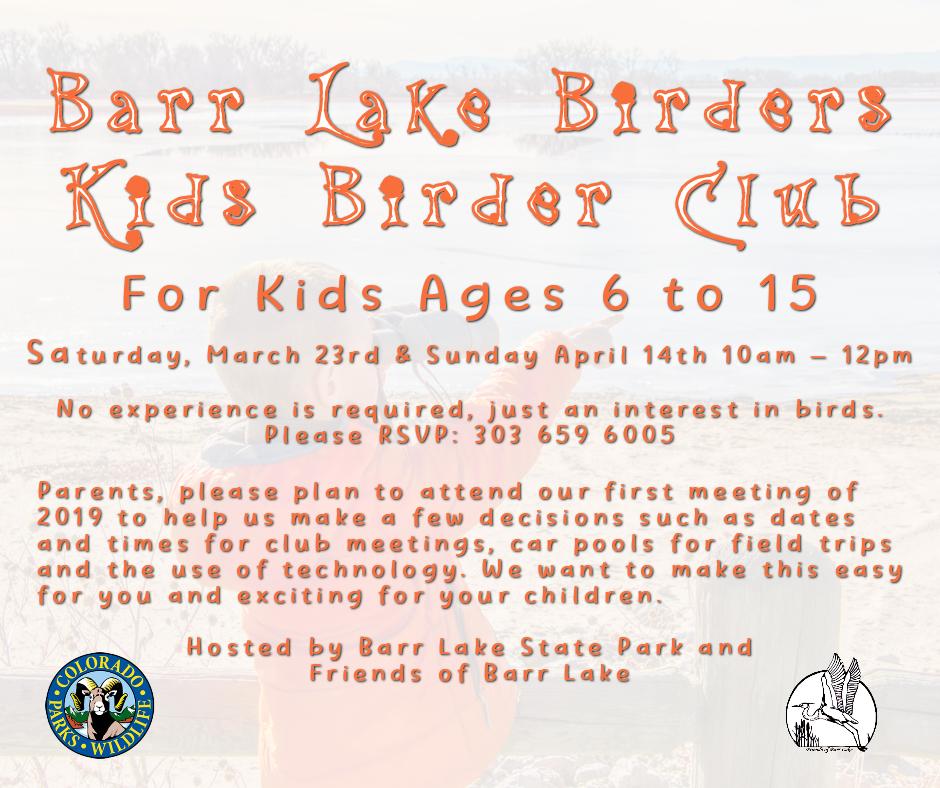 Barr Lake Birders, Kids Birder Club