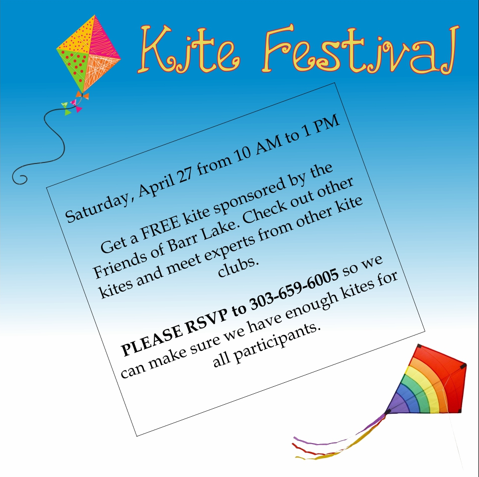 Kite Festival Sponsored by Friends of Barr Lake