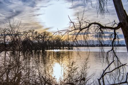 Sunset over Barr Lake