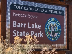 Barr Lake State Park Entrance Sign