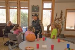 Ranger Michelle Educates the Kids about Pumpkins