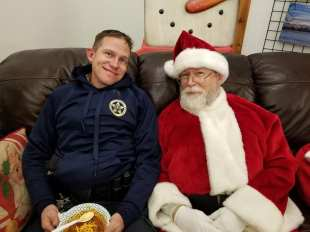 Santa and Ranger Brian