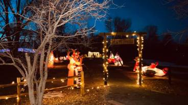 Beautiful Lights at the Winter Wonders Holiday Trail