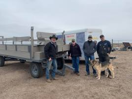 New Hay Rack Trailer from Friends of Barr Lake