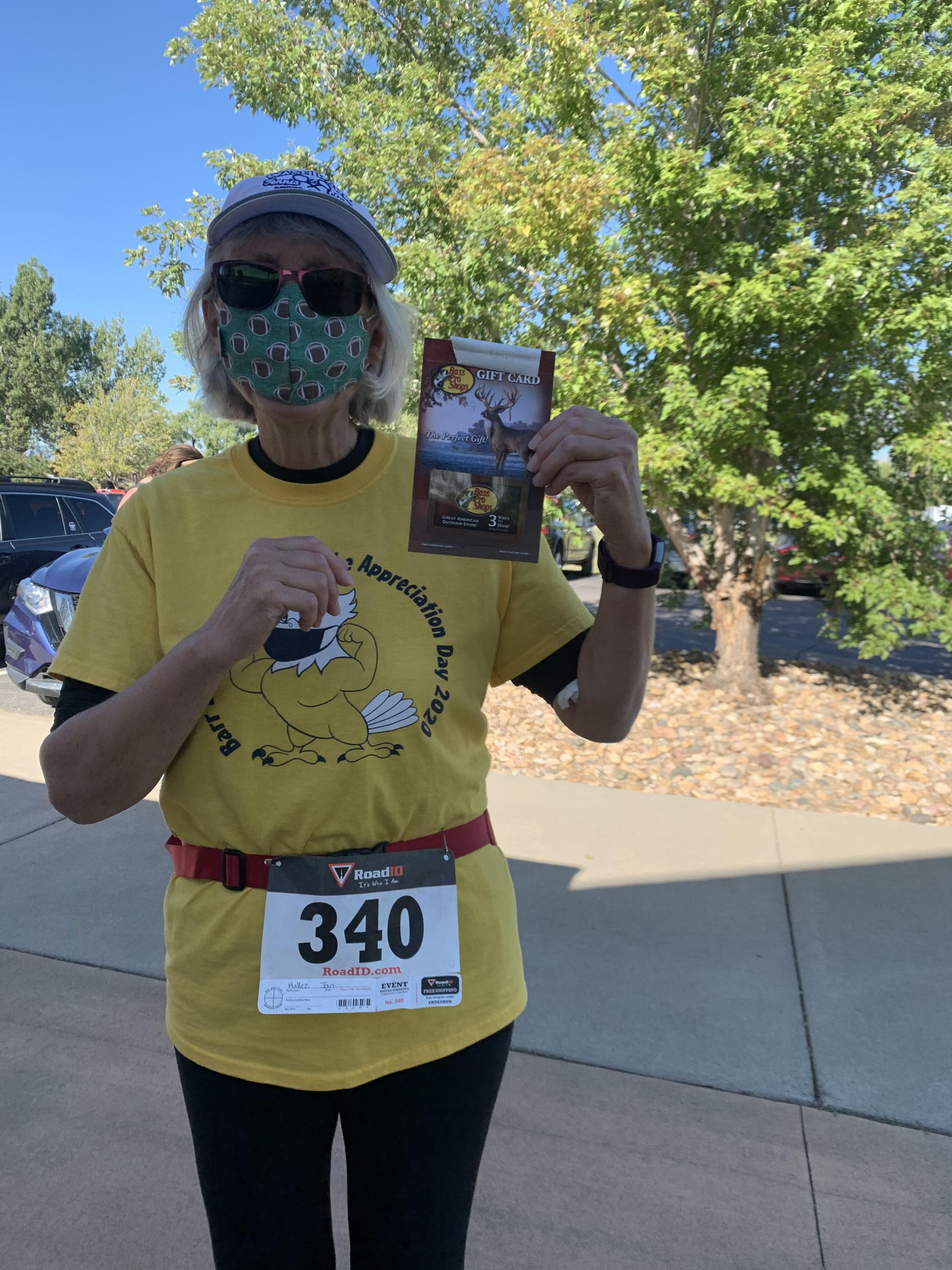 Raptor Run 5K 2020 Gift Card Winner