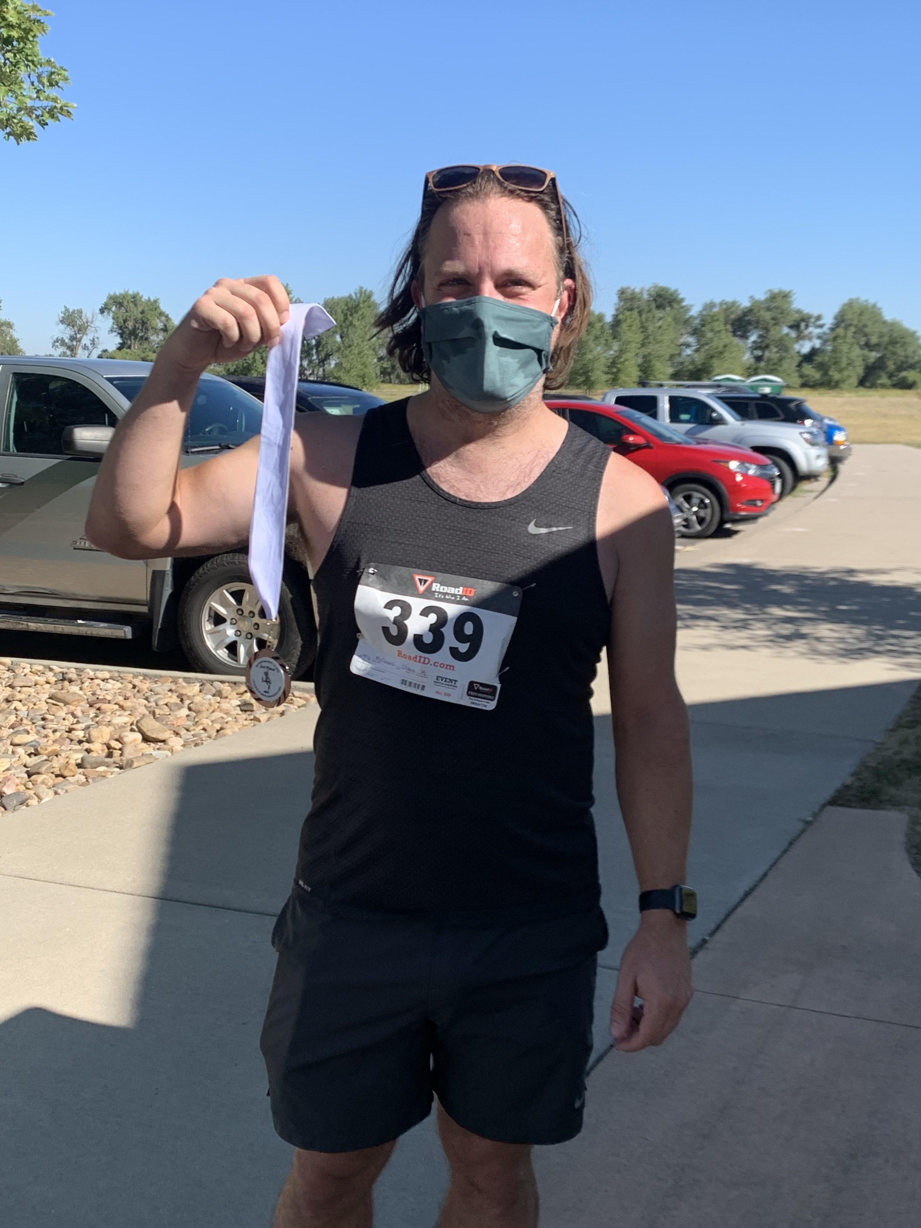 Raptor Run 2020 Medal Winner